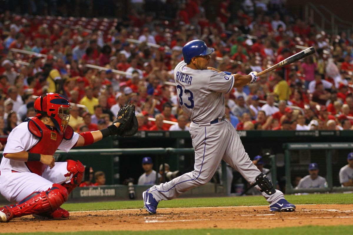 Including Wednesday, Juan Rivera has started 30 of 37 games since coming to the Dodgers.