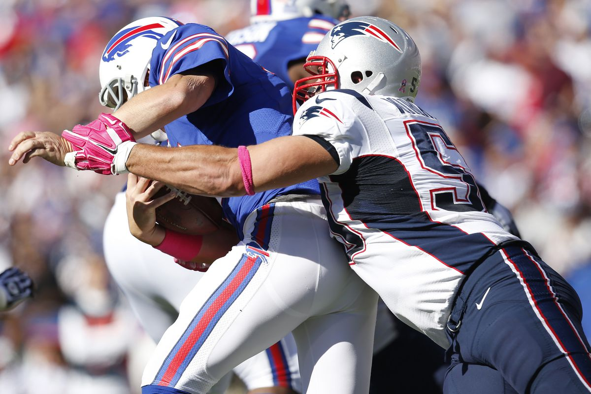Rob Ninkovich gives Kyle Orton a sack lunch three times Sunday