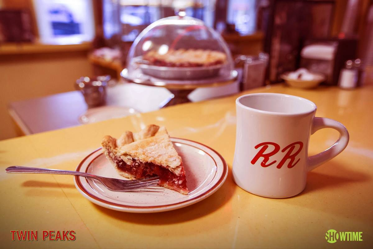 Cherry pie and coffee from the Double R Diner in Twin Peaks