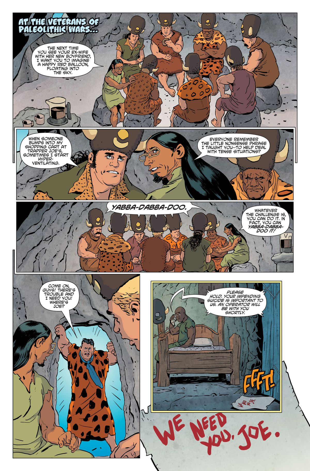 the creators of the flintstones comic on bringing existential dread