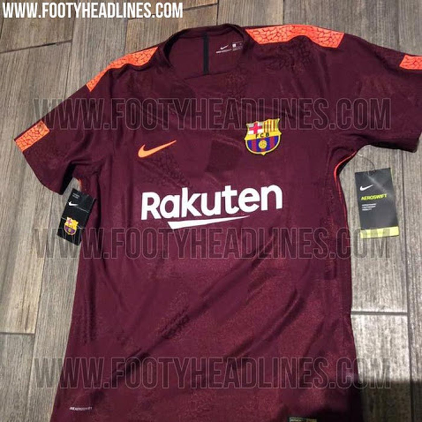 newest c3159 840f0 New pictures of Barcelona's 2017-18 third kit leaked - Barca ...