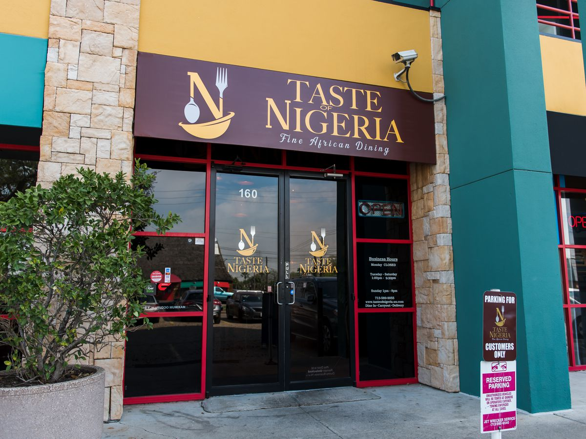 The sign outisde Taste of Nigera.