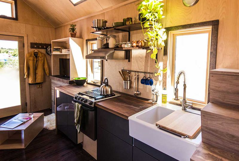 inside farallon one of tumbleweeds newest models tumbleweed - Tumbleweed Tiny House Interior