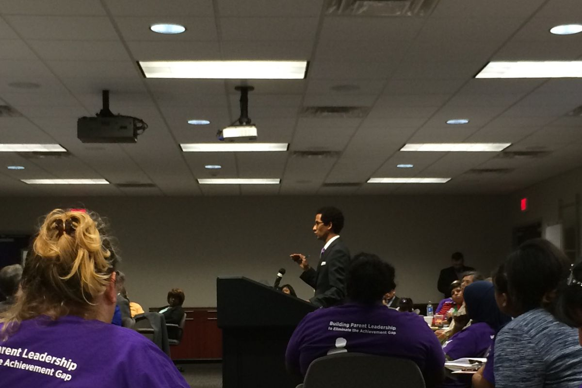 Shaka Mitchell, director of Rocketship's Tennessee Schools, appeals to the State Board of Education on Wednesday to allow the national network to expand further in Nashville.