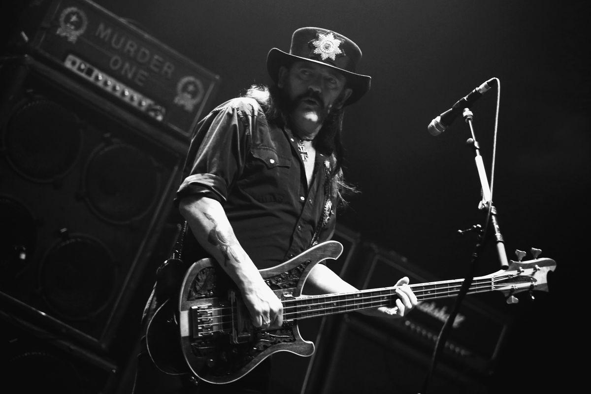 """Ian """"Lemmy"""" Kilmister performs with Motörhead in Berlin, Germany."""