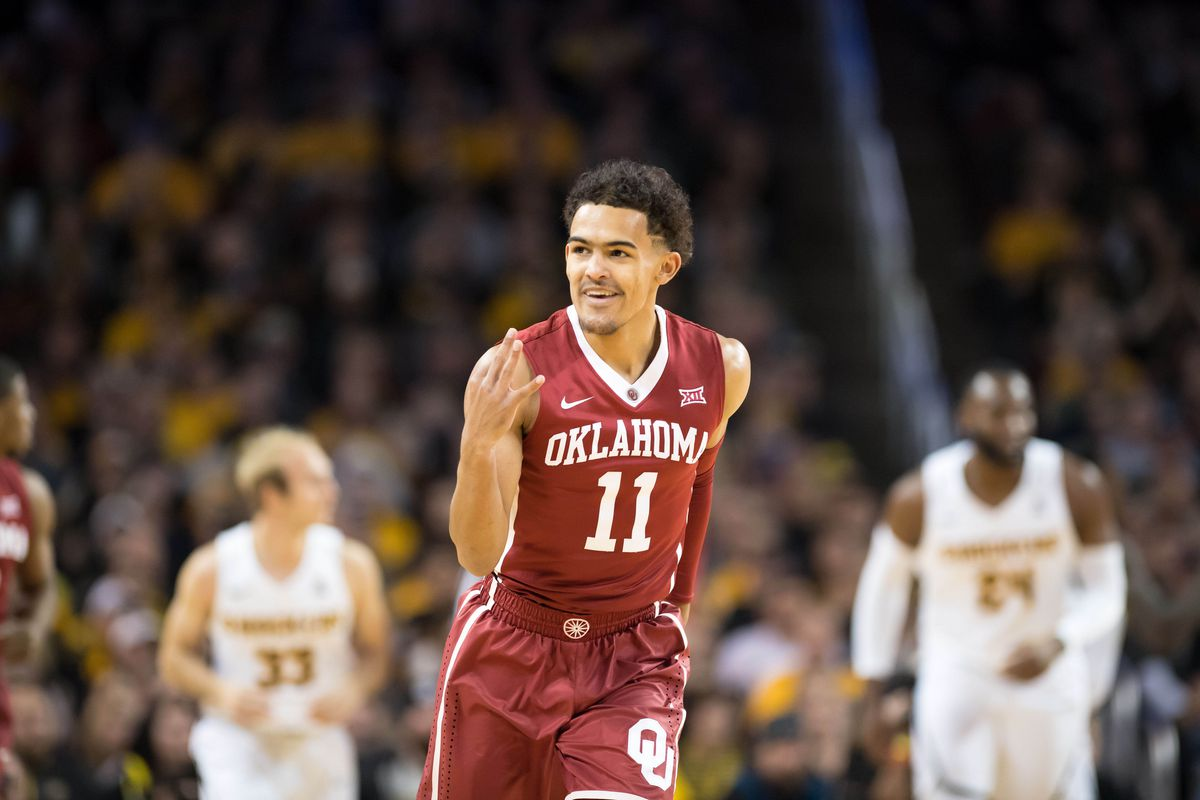 Oklahoma Basketball  Trae Young ties NCAA record with 22 assists in ... 8d75a8bfd
