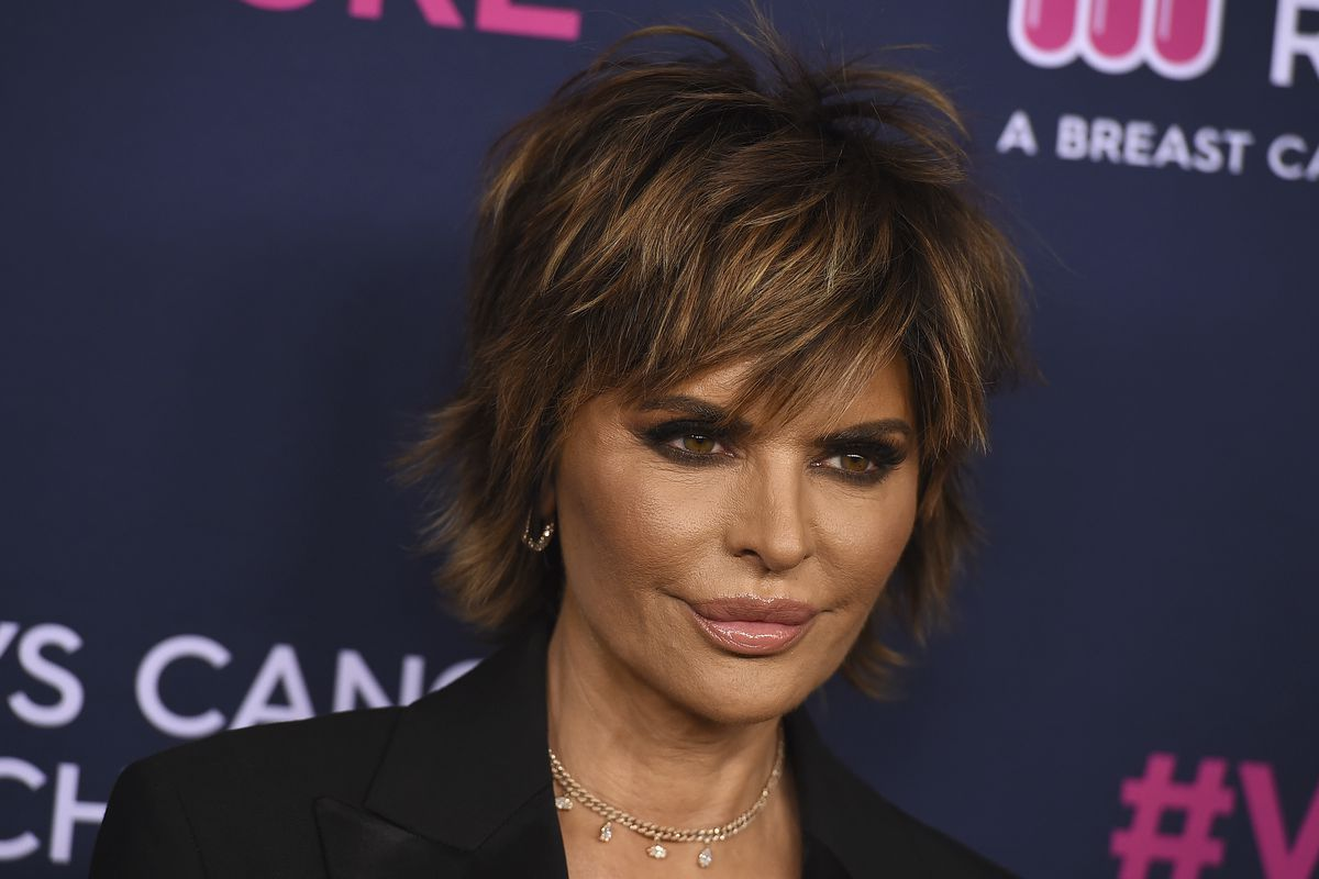 Lisa Rinna attends the 2020 An Unforgettable Evening at Beverly Wilshire on Thursday, Feb. 27, 2020 in Beverly Hills, Calif. (Photo by Jordan Strauss/Invision/AP)