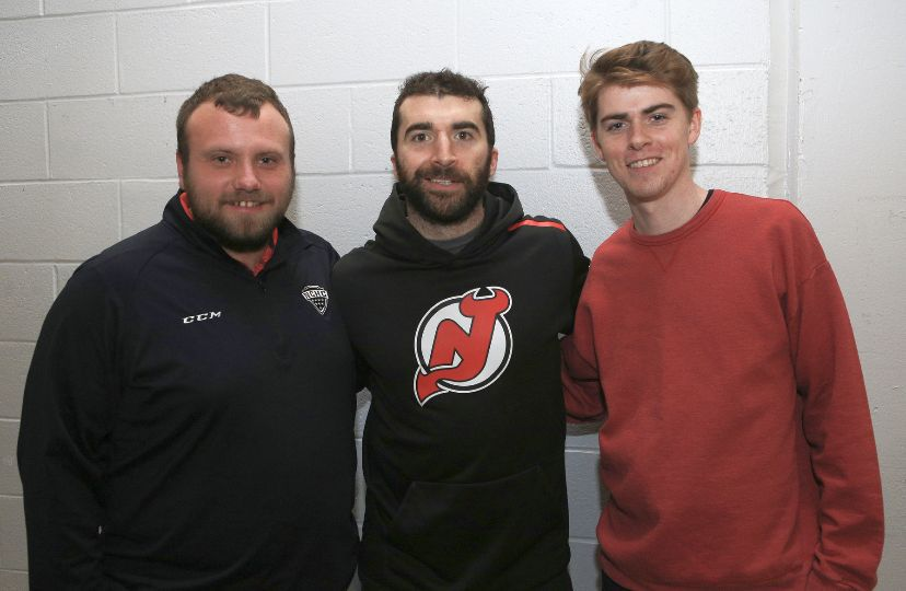 Stephen Finkel with his then boyfriend and Kyle Palmieri of the New Jersey Devils.