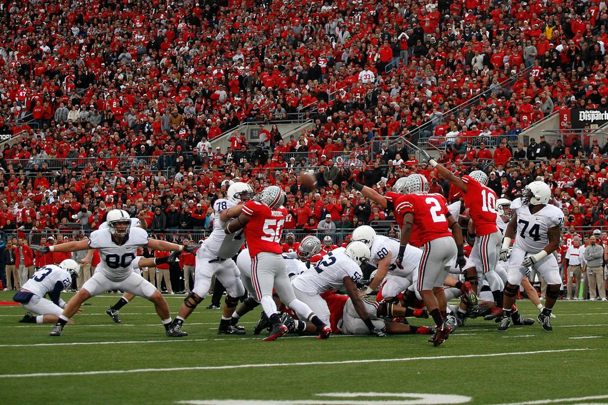 Anthony Fera is in there somewhere (Photo by Kirk Irwin/Getty Images).