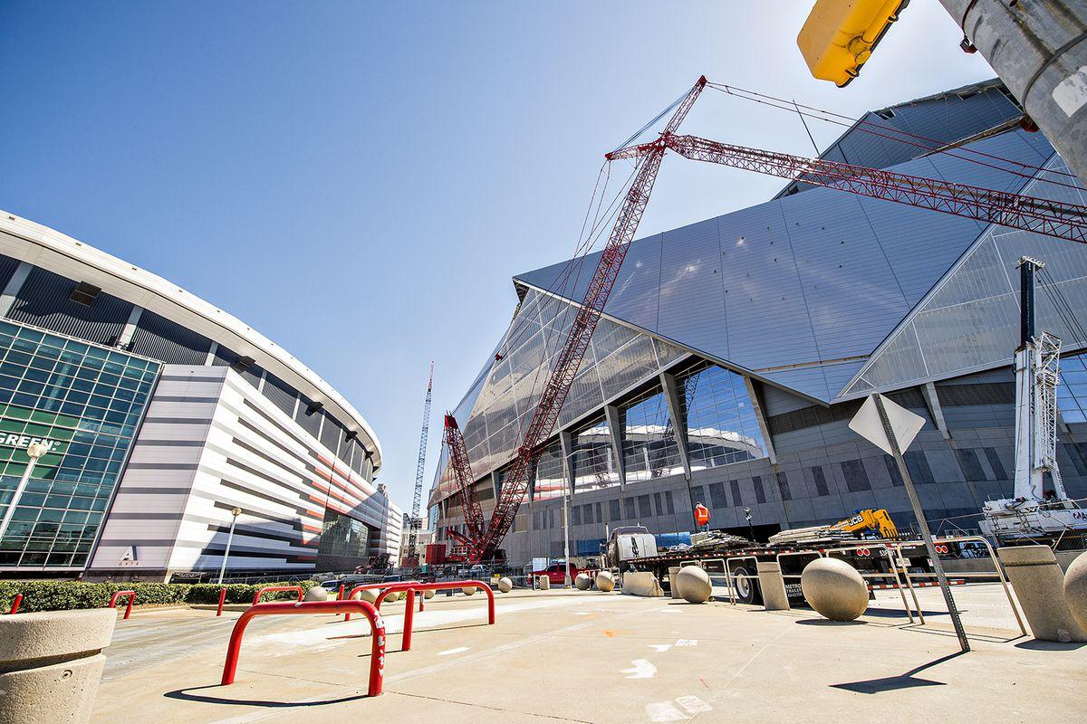 Photo update mercedes benz stadium home of atlanta for Falcons mercedes benz stadium
