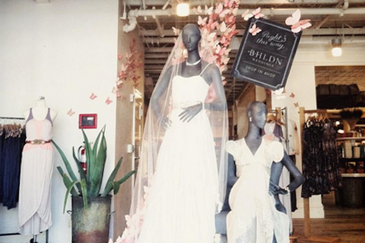 "BHLDN's shop-in-shop at Anthropologie Beverly Hills. Image credit: <a href=""http://instagram.com/p/bmLvlNHTUA/"">BHLDN/Instagram</a>"