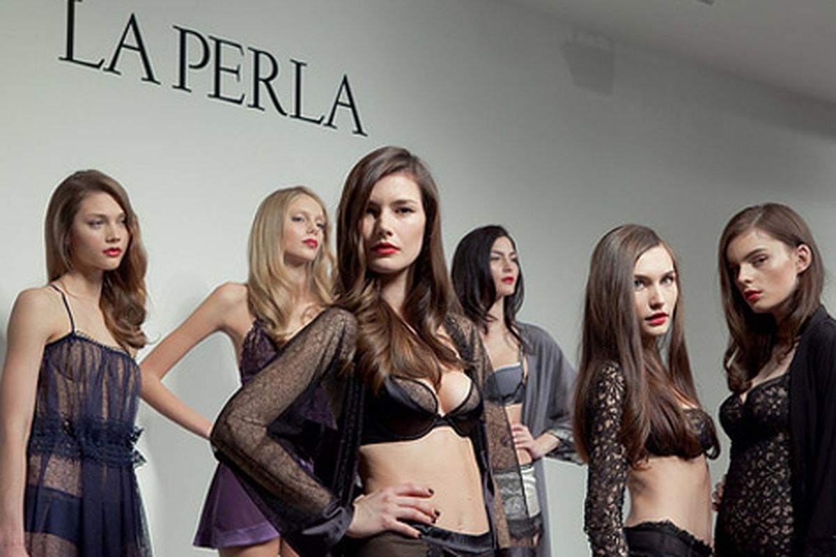 """Models at the La Perla show via <a href=""""http://www.flickr.com/photos/oliver62/4349786315/in/pool-rackedny"""">Oliver 62</a>"""
