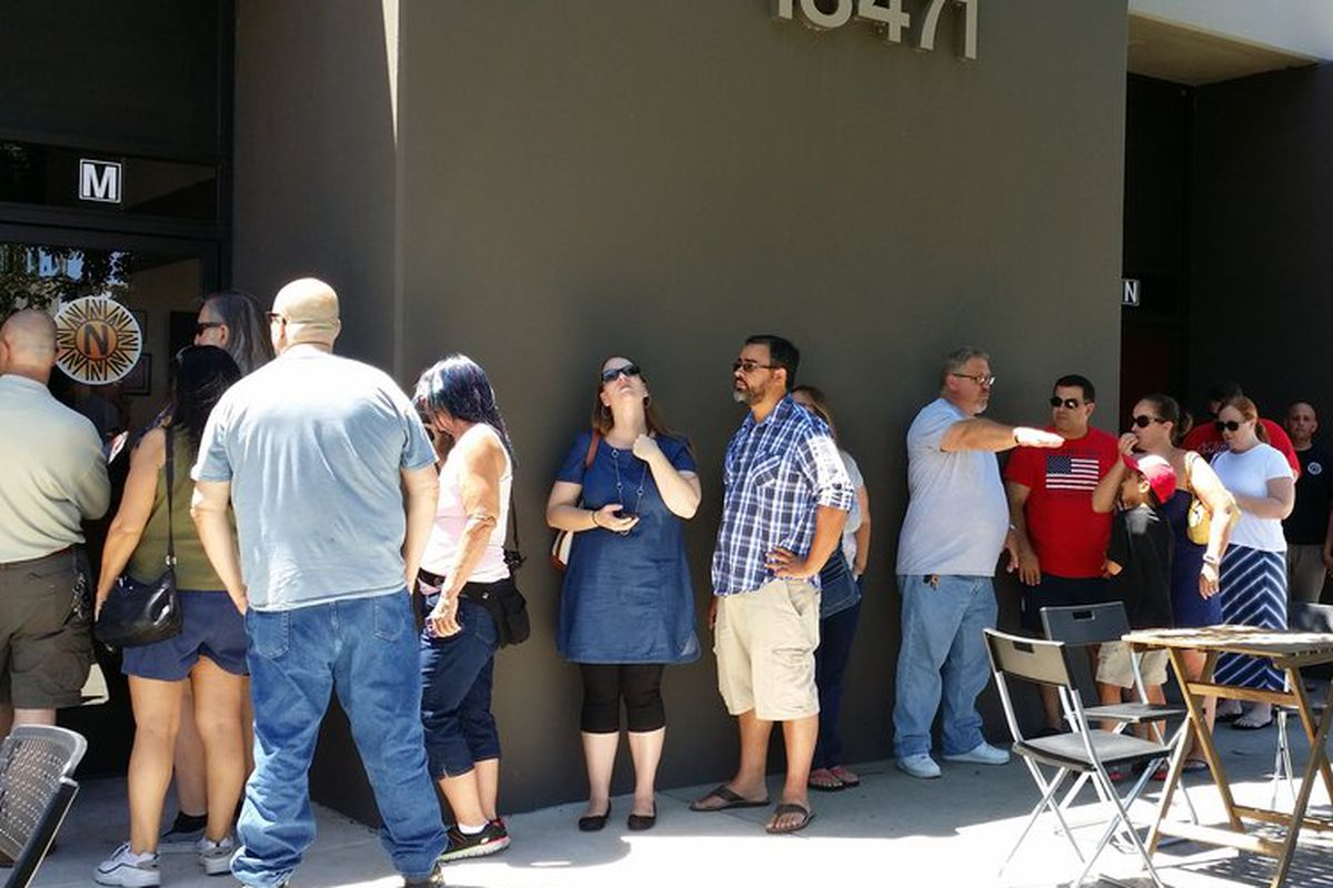 The line at Naugles in Fountain Valley