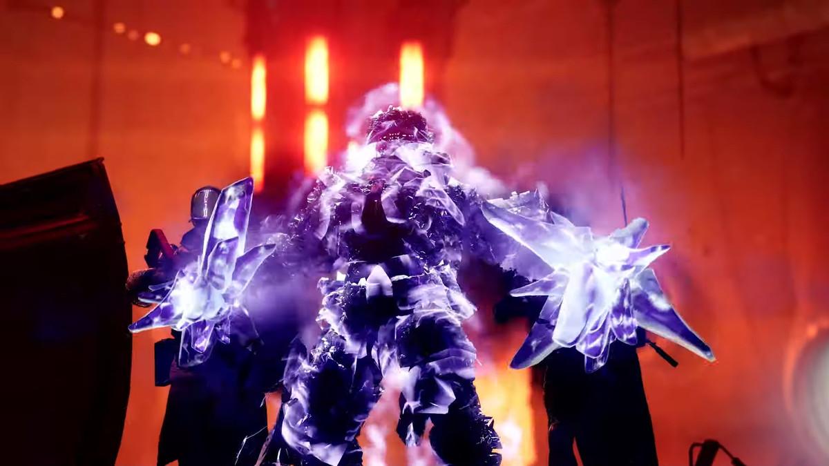 Destiny 2 Titan activando su Stasis Super