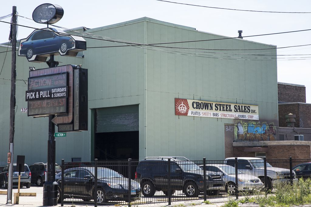 Crown Steel Sales, 3355 W. 31st. St., which Alex Pissios and his partners paid $2.8 million to buy, with plans to convert the property into a satellite studio., according to Ald. Ricardo Munoz (22nd).   Ashlee Rezin / Sun-Times