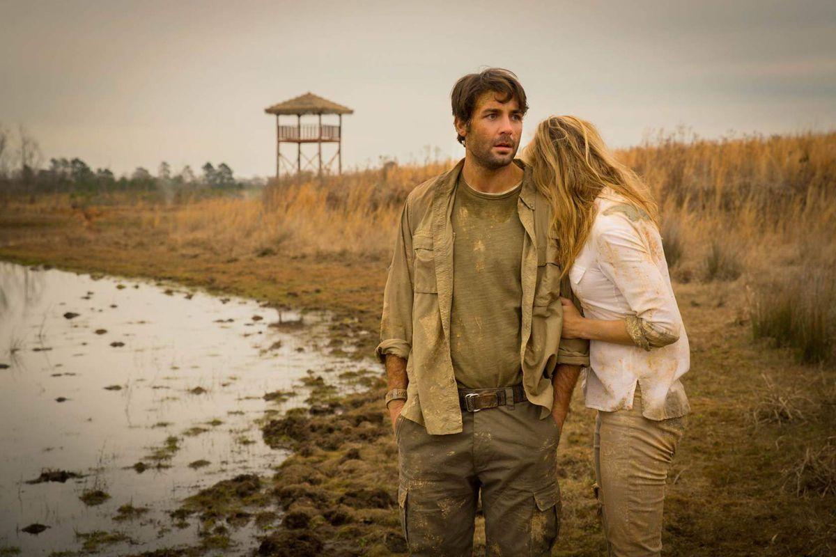 "James Wolk and Nora Arnezeder in ""Zoo"""