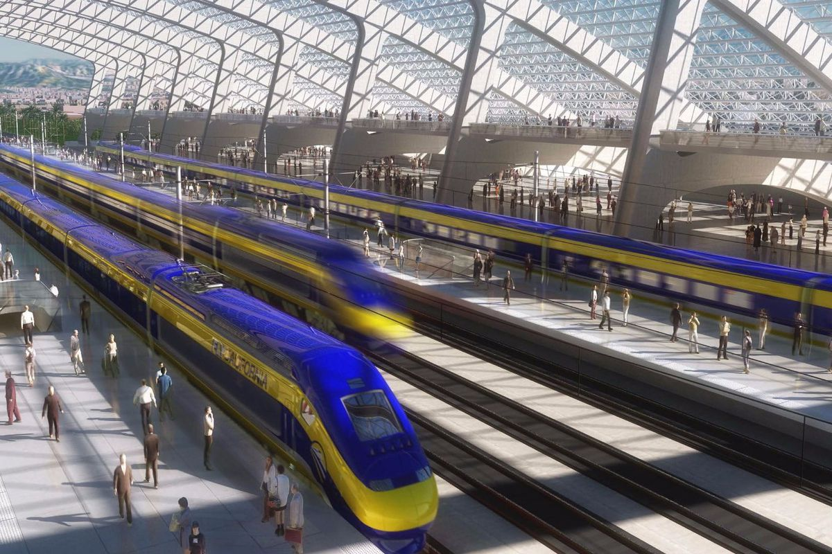 Map Shows Highspeed Rails Sluggish Progress Curbed SF - Bullet train locations us map