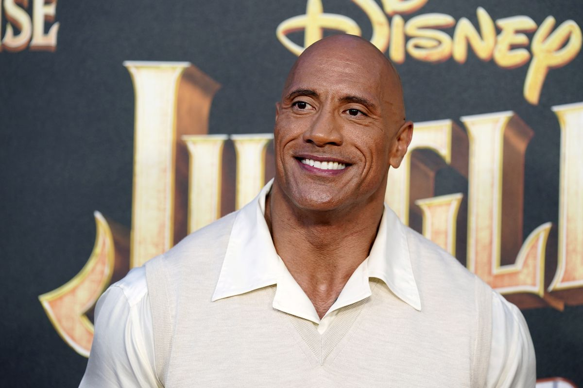 """Dwayne Johnson likes to shower every morning to """"get rollin' with my day."""""""