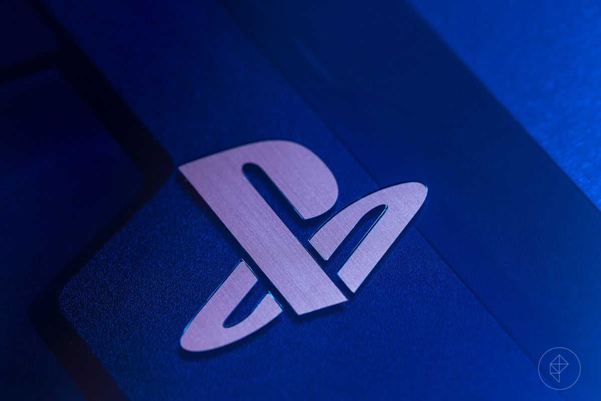 500 Million Limited Edition PS4 Pro - close-up of PlayStation logo on top of the console