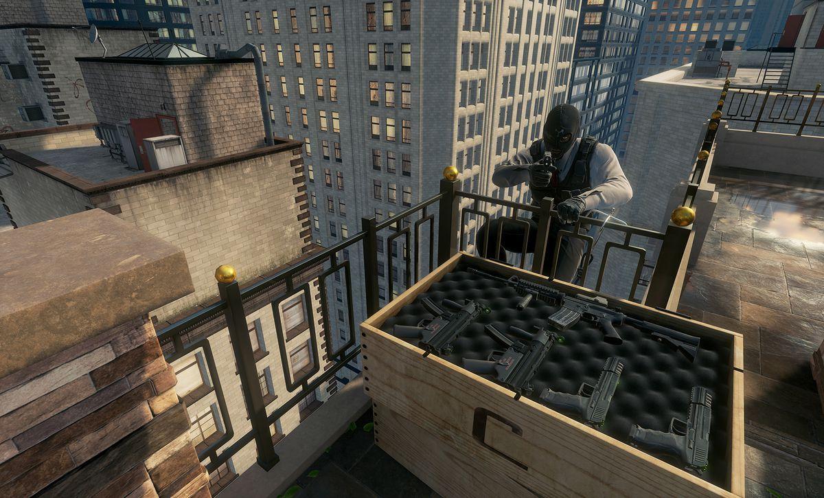 John Wick Chronicles rooftop gun crate