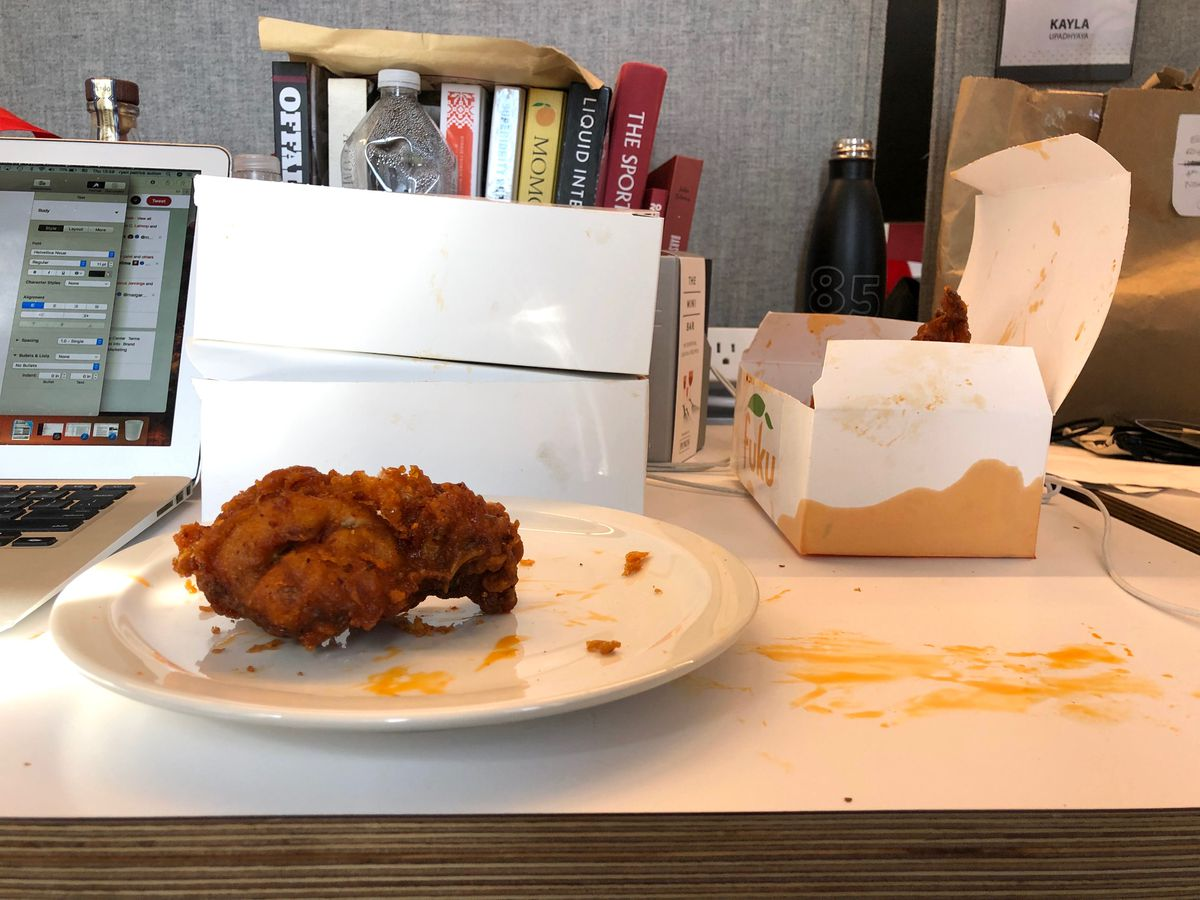 Sichuan oil fried chicken at Fuku