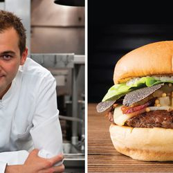 Daniel Humm's eponymous burger, on the menu June 12, is a doozy: It's a burger topped with gruyere, bacon, celery relish, truffle mayo, and (because why not) freshly shaved black truffle.