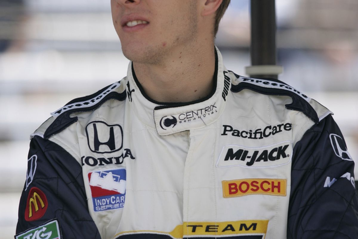 Sebastien Bourdais at the Indianapolis Motor Speedway during Carb Day, 2007. (Photo: IMS Photo)