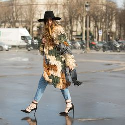 Camo-inspired yarn coat?