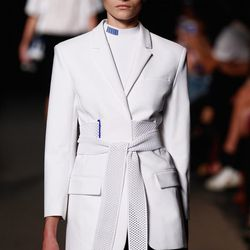 Asian influences at the otherwise sporty Alexander Wang show. Photo: Getty.