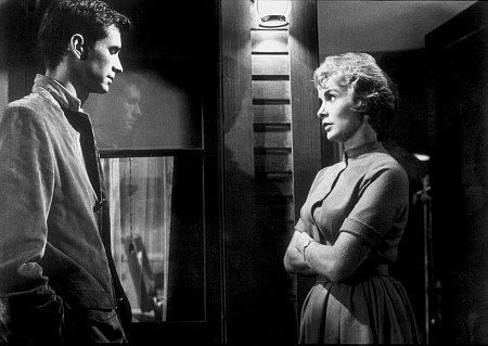 """20141021 Norman Bates (Anthony Perkins) and Marion Crane (Janet Leigh) have a chat at the Bates Motel before everything goes sideways in Alfred Hitchcock's """"Psycho,"""" which will play two days at local Cinemark Theaters."""