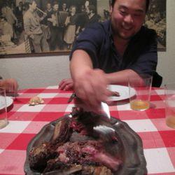 Chang eats meat.