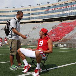 Wisconsin wide receiver Jordan Fredrick talks about the camaraderie among UW's receivers.