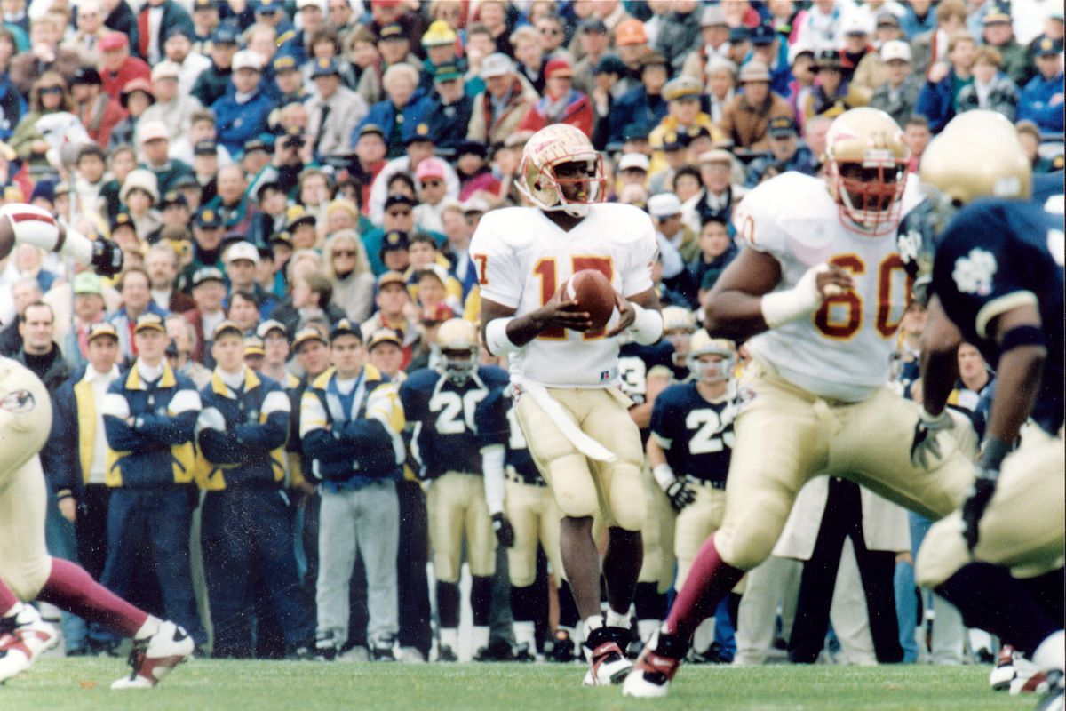 Notre Dame Football Why Did The Irish Play Florida State In 1993 One Foot Down