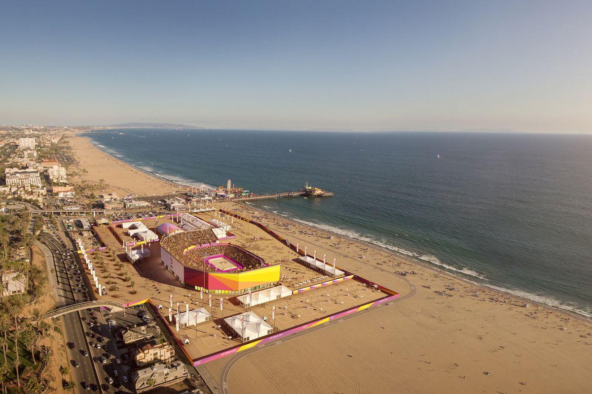 Beach Volleyball At Santa Monica Images Courtesy La 2024