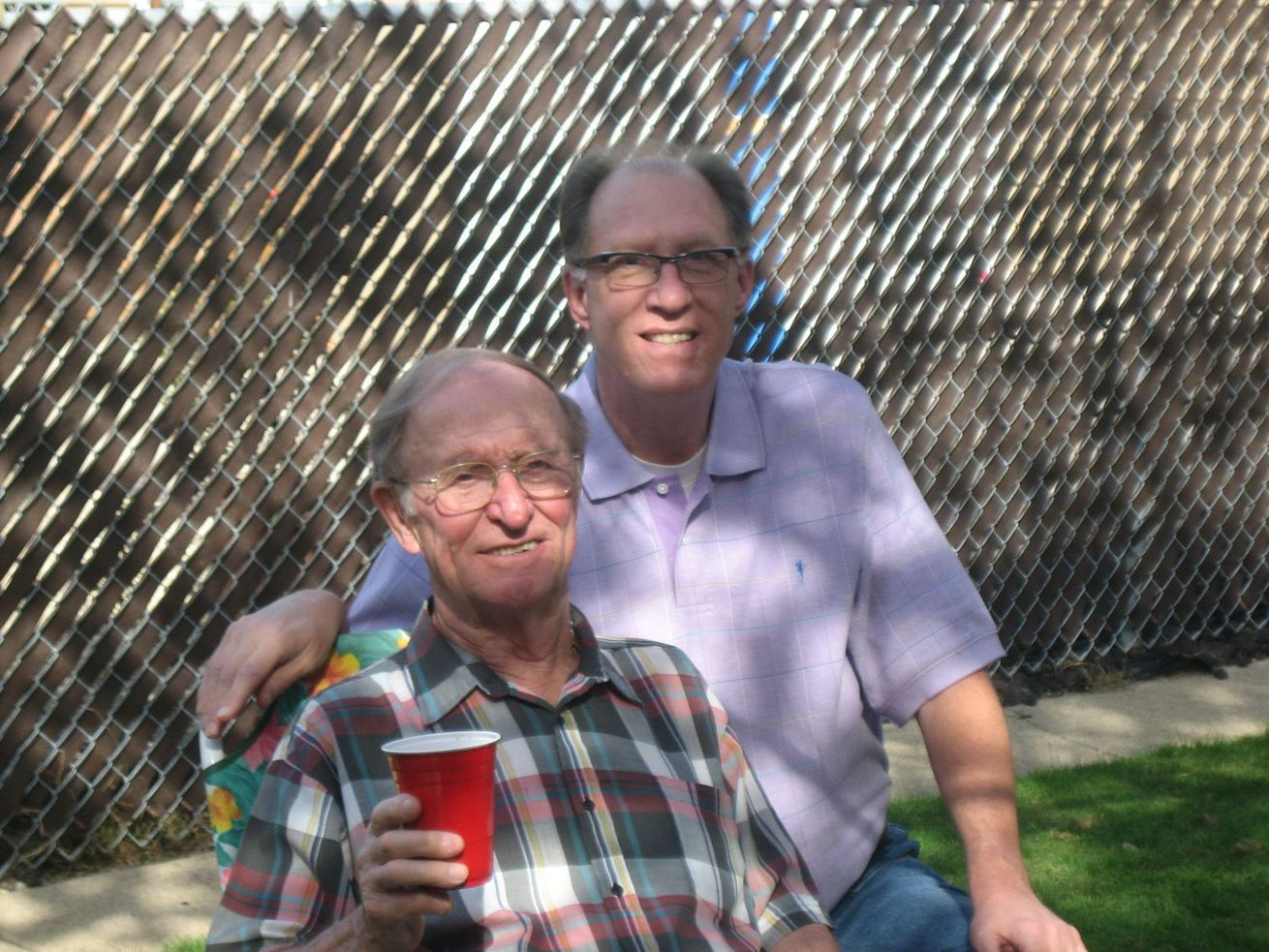 David Liesse, right, with his father Jerome Liesse.