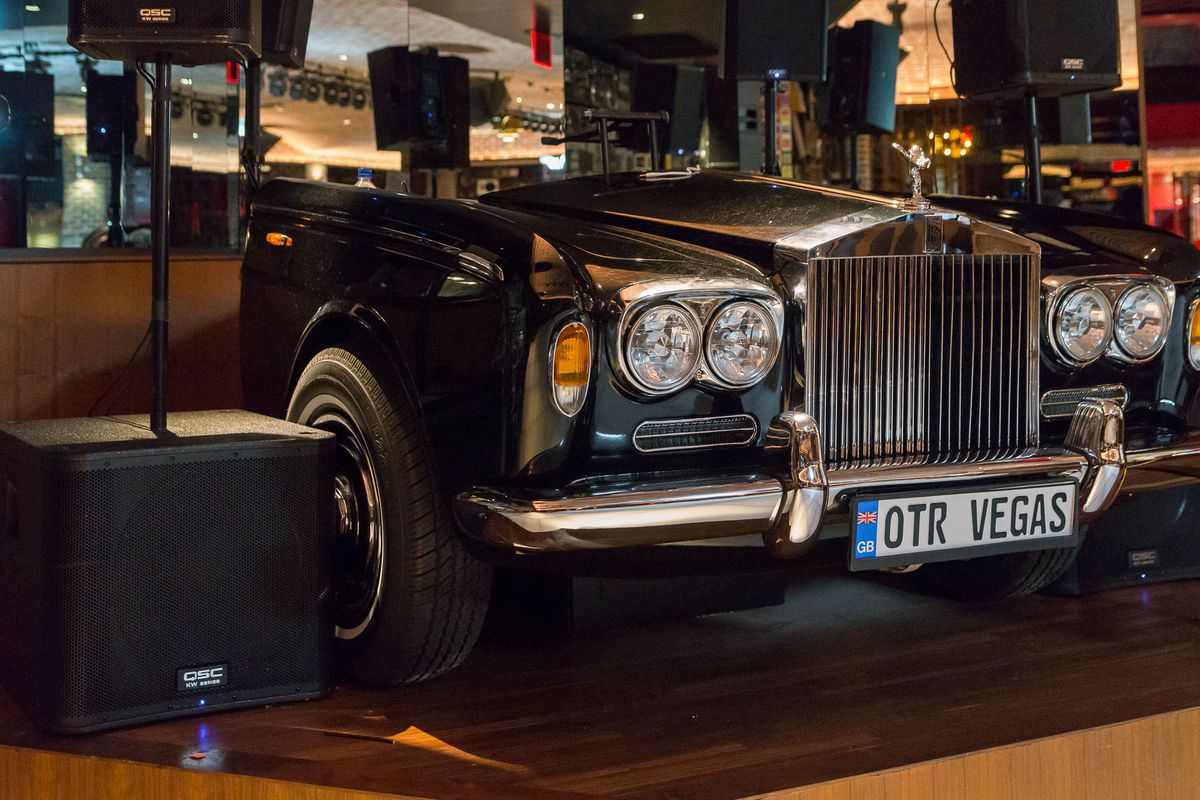 The Rolls Royce deejay booth at On the Record