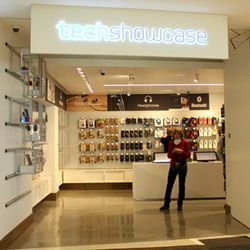 """The first store at the front of the terminal is <a href=""""http://www.techshowcase.com/"""">TechShowcase</a>, an airport staple for last-minute tech needs."""