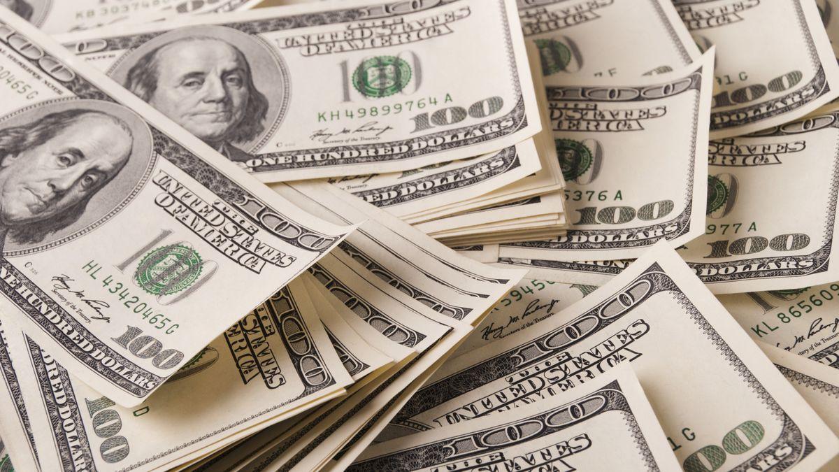 A pile of hundred-dollar bills