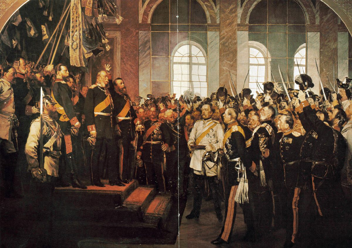 Wilhelm I (1859-1888) King of Prussia from 1861, being proclaimed first Emperor of Germany, 1871. After the defeat of France in the Franco-Prussian War of 1870-1871, as a gesture of further humiliation of the French, on 18 January 1871 Wilhelm was crowned...