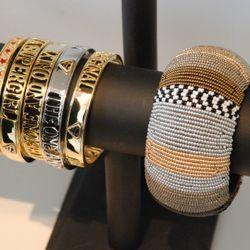 Current collection bracelets.
