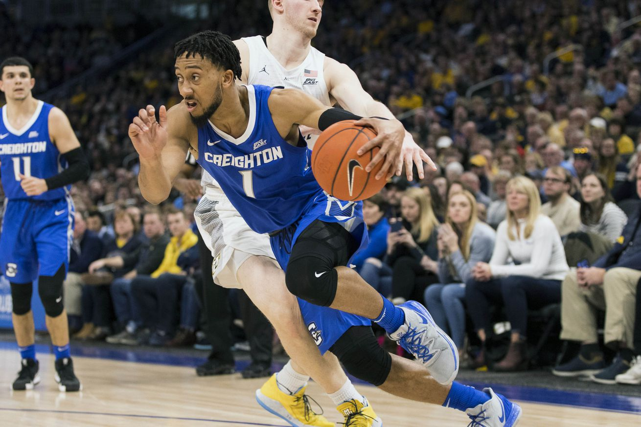 Thanks to Sunday's win at Marquette, Creighton is back in the NCAA hunt.