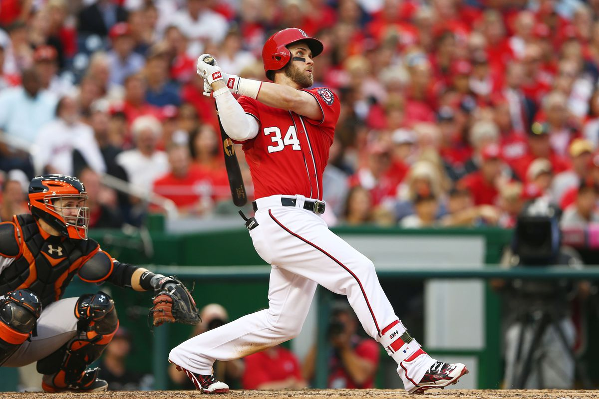 Bryce Harper hit a majestic homer in the seventh inning of the Nationals 3-2 loss to the San Francisco Giants Friday.