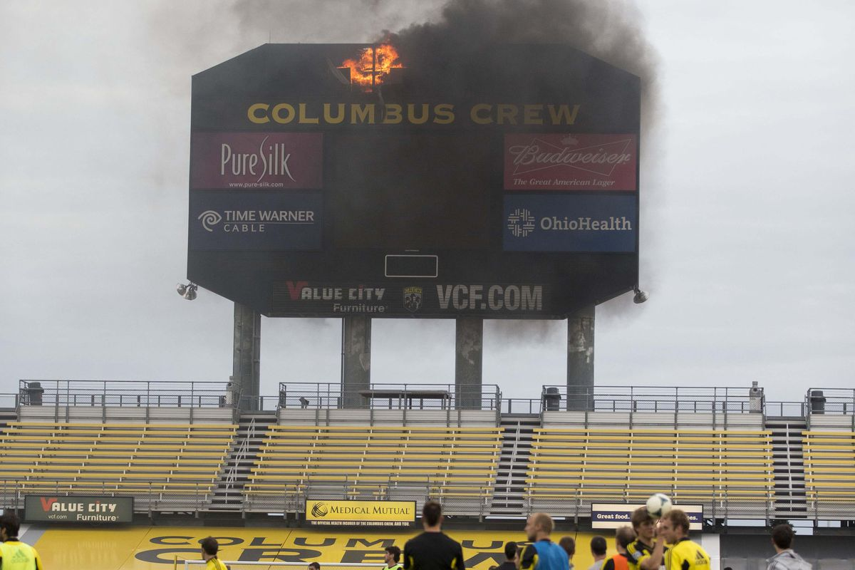 I've heard of lighting up the scoreboard, but this...