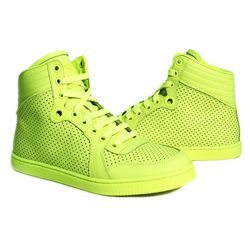 """These need no introduction. Gucci Coda Neon Yellow High Top Sneaker, $640 at <a href=""""http://curatedbythetannery.com/products/coda-neon-yellow-high-top-sneaker"""">The Tannery</a>."""