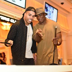 Kenny Anunike and DeMarcus Ware at Encore Players Club. Photo: Karl Larson