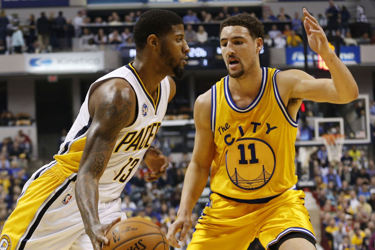 18260f572f9 NBA Free Agency  Klay Thompson says he hasn t spoken with Paul George about  teaming up on the Lakers