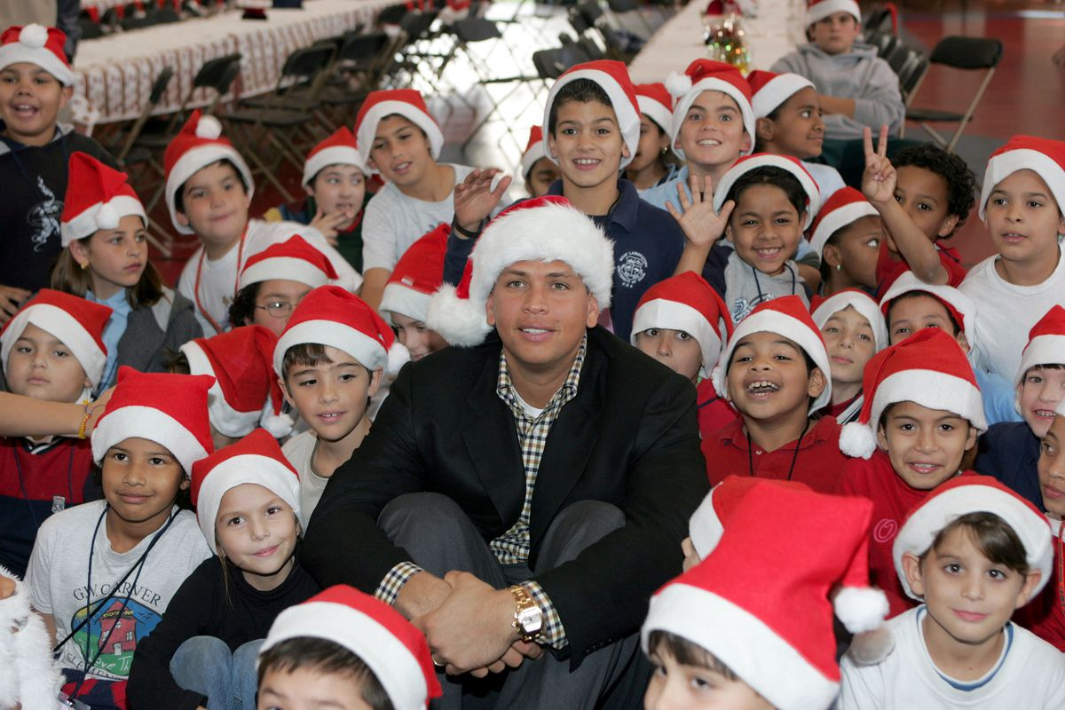 Alex Rodriguez Hosts Christmas Party At Boys And Girls Clubs Of Miami