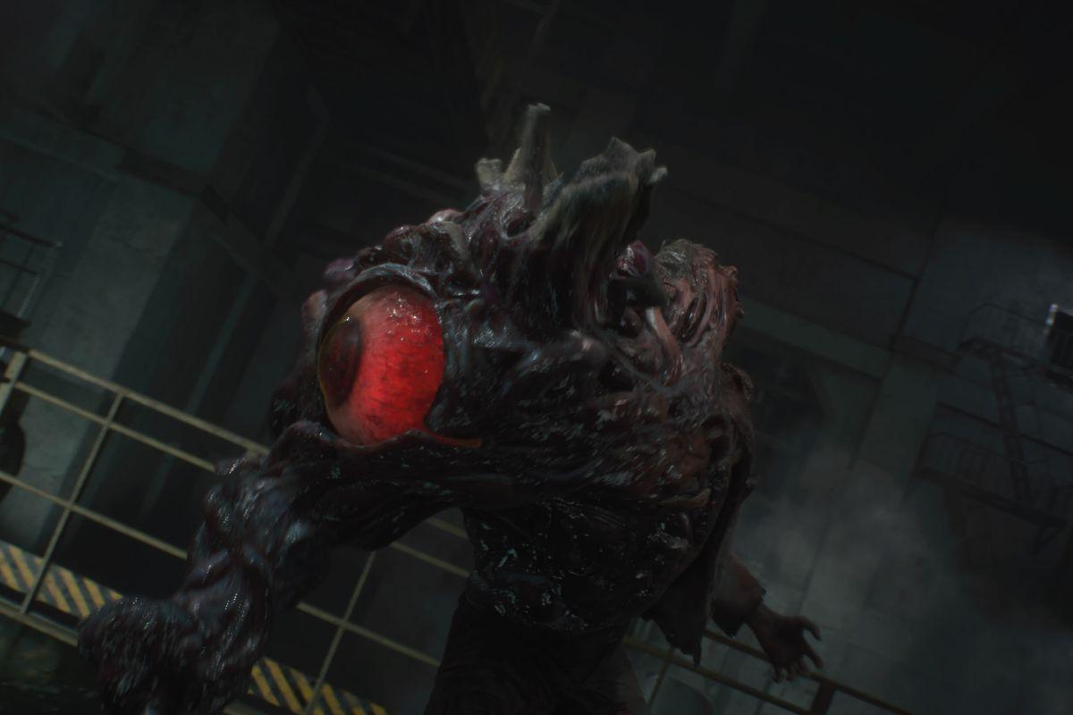 Resident Evil 2 Claire walkthrough 5: Underground Facility, G boss