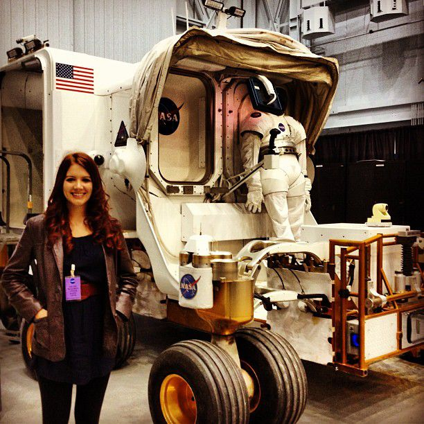 loren on a rover