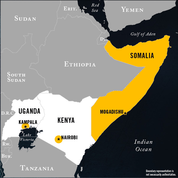 The US Just Bombed A Terrorist Training Camp In Somalia Heres - Terrorist training camps in us map